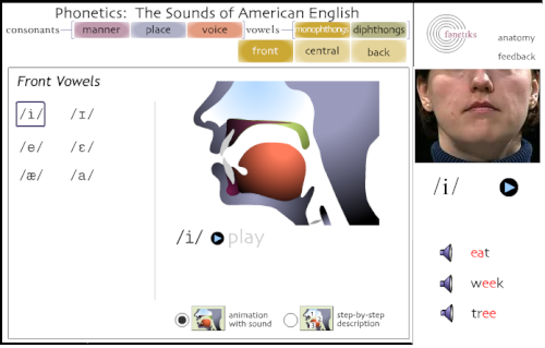 アイオア大学 - Phonetics: The Sounds of American English